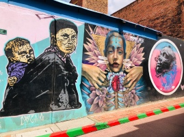 Street art everywhere reflecting the turmoil