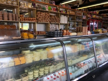 A typical snack shop selling cheese, empanadas, sweets 'postres' and drinks