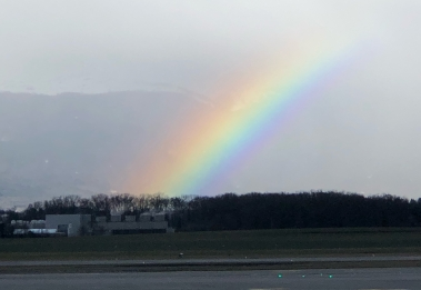 rainbow leaving Geneva