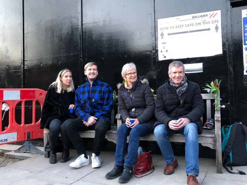 Anna, Tommy and us on the bench