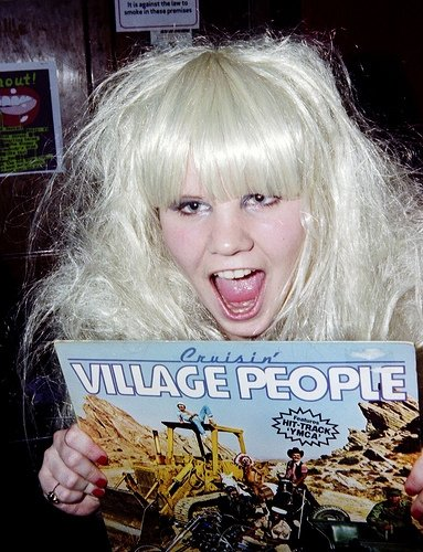 She loved collecting old vinyls