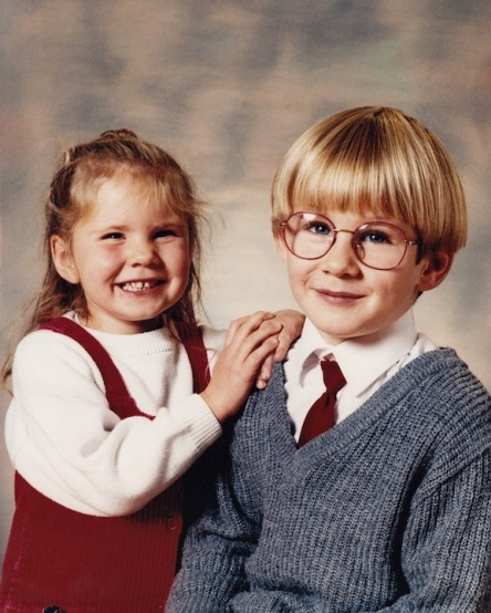 She adored her big brother, the Milky Bar Kid