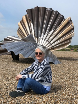 with Maggi Hamblin's scallop shell in tribute to BENjamin Britten who lived here